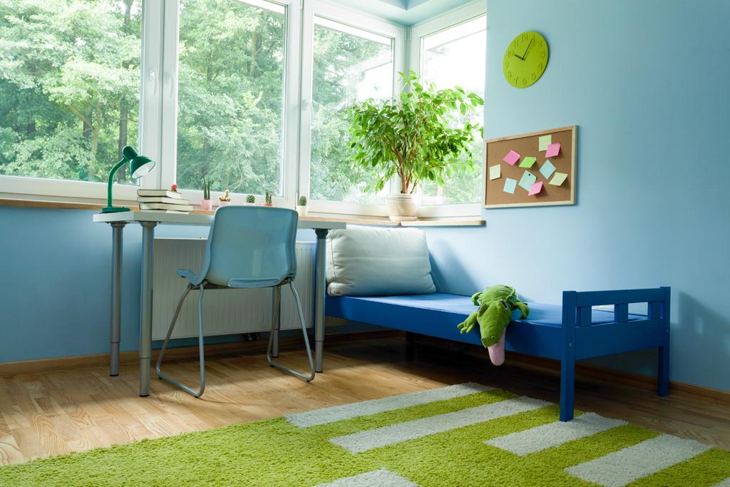 Modrozelený pokojík