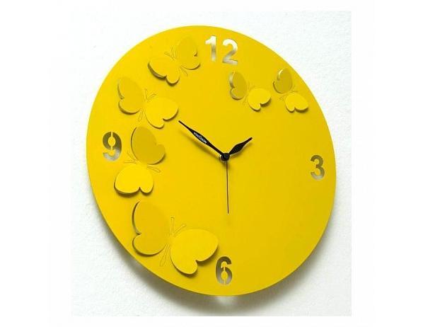 Designové hodiny D&D 206 Meridiana, fuchsiový lak