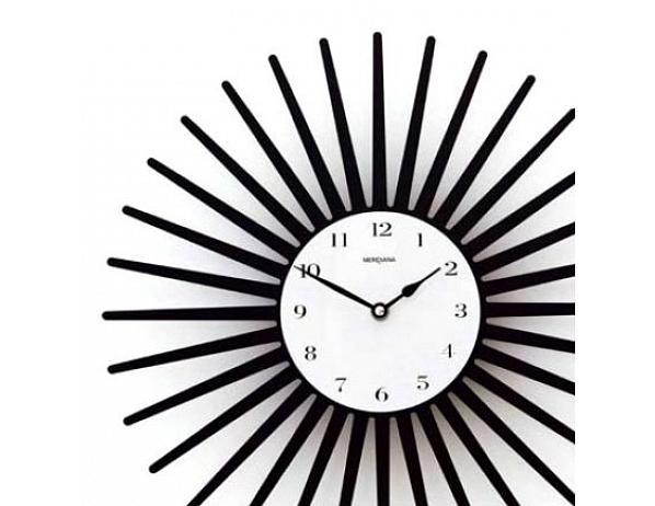 Designové hodiny D&D 369 Meridiana, černý lak