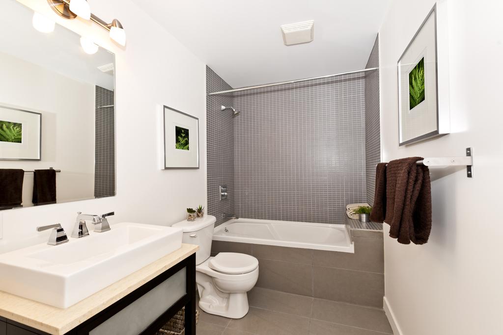 Stylová koupelna v malém prostoru