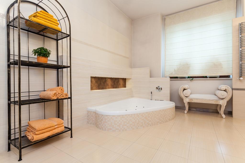Koupelna jako stvořená pro relax