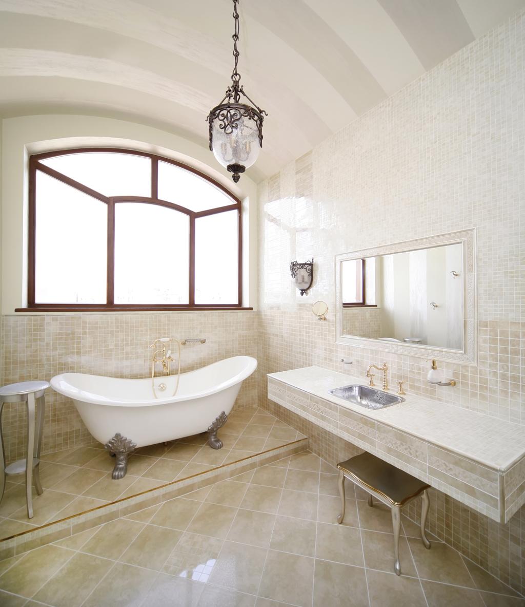 Retro koupelna v zámeckém stylu