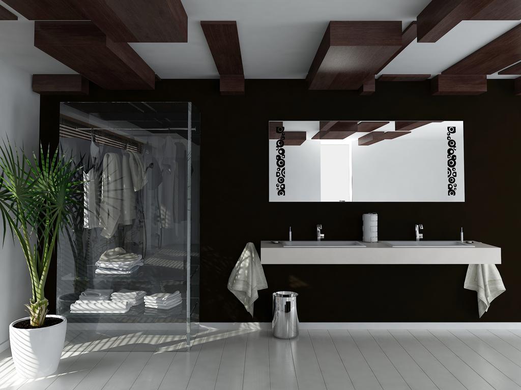 Koupelna s palmou