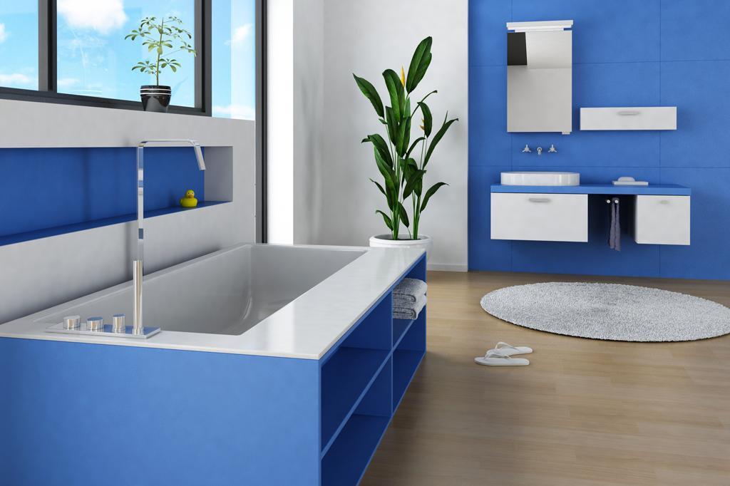 Koupelna s netradiční vanou
