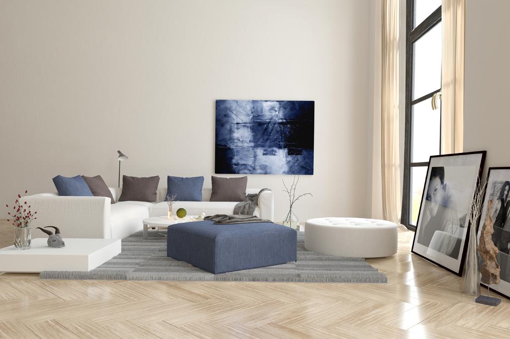 Obývák s dramatickou dekorací