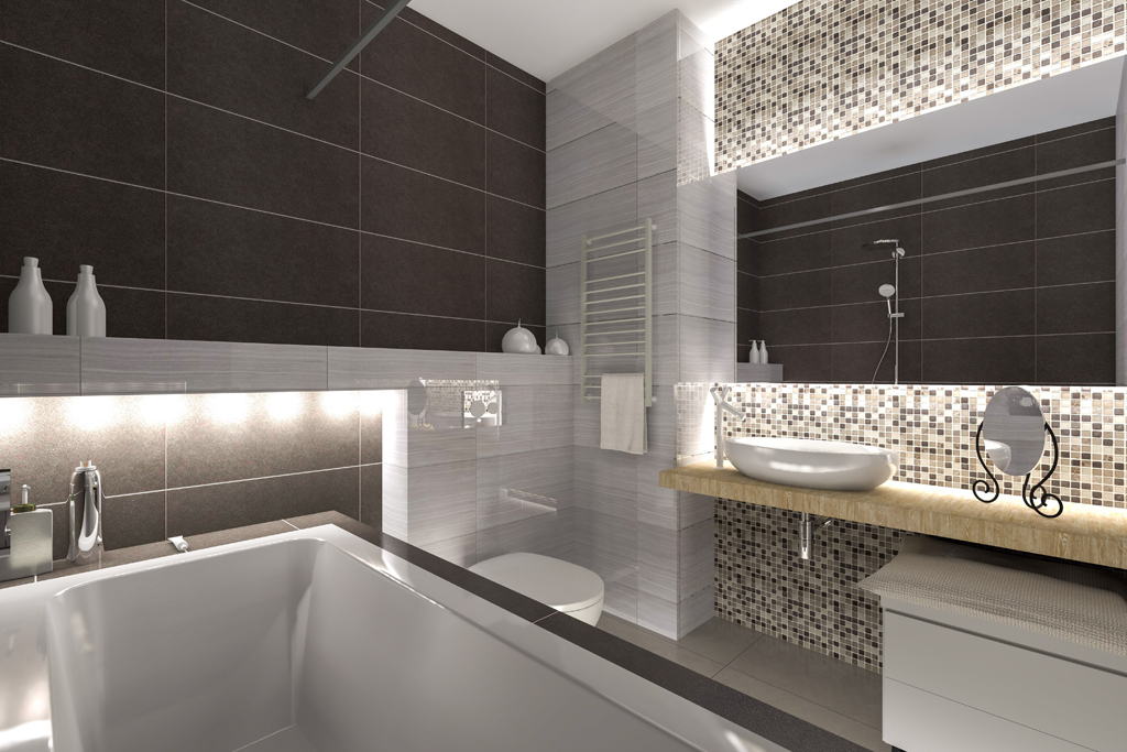 Moderní koupelna v luxusním hávu