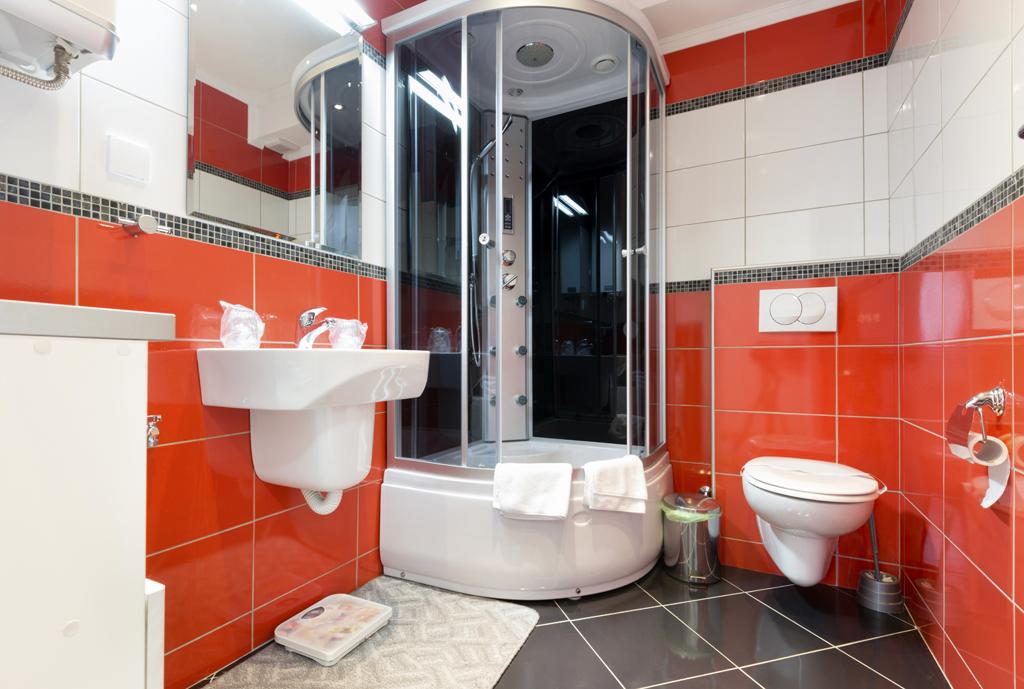 Moderní koupelna s masážní sprchou