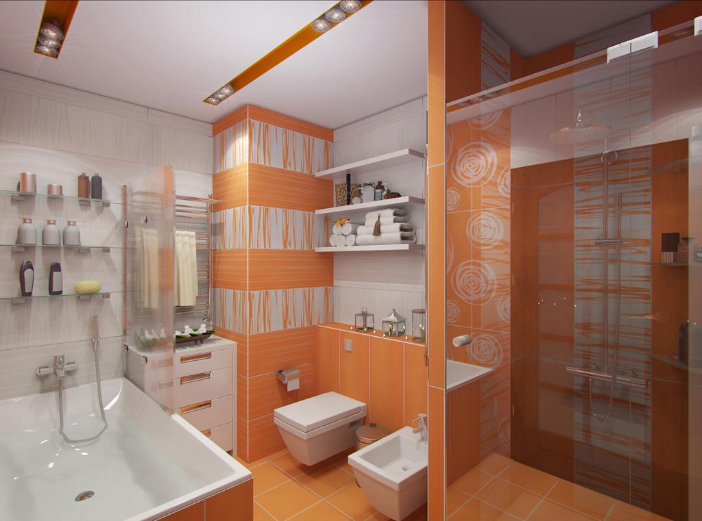 Hranatá koupelna