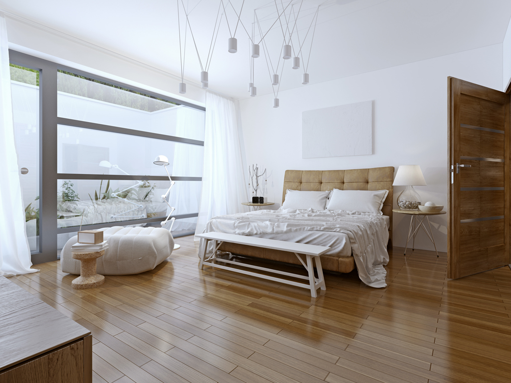 Ložnice s moderní lenoškou