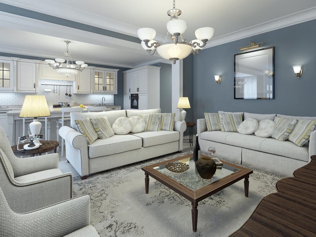 Honosný obývací pokoj
