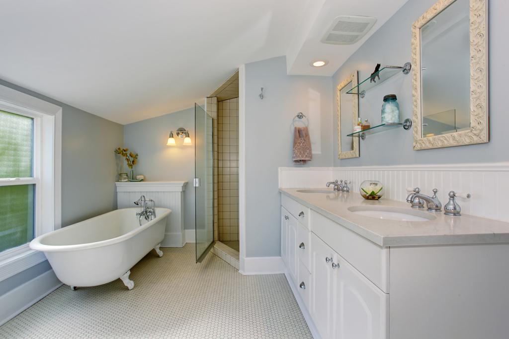 Romantická retro koupelna