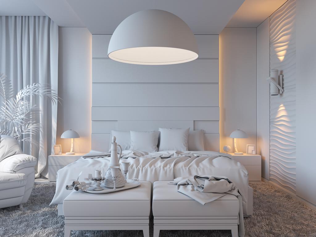 Zasněžená ložnice