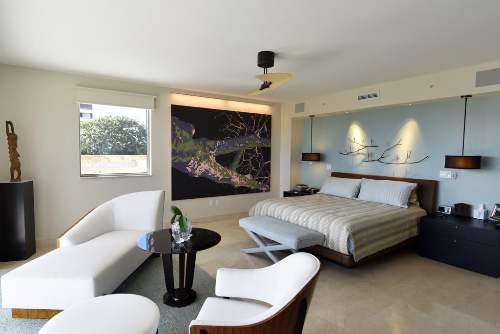 Ložnice spojená s relaxačním koutkem