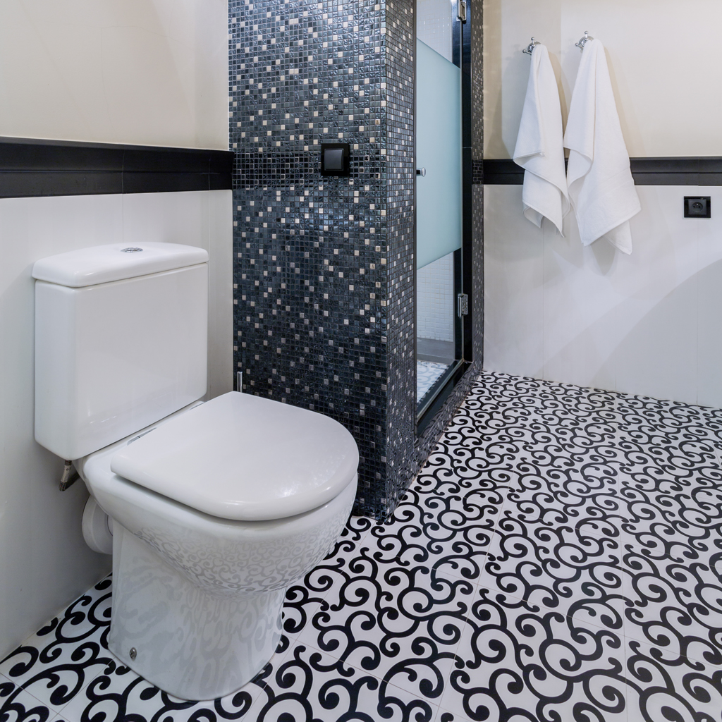 Sprchový kout v mozaice