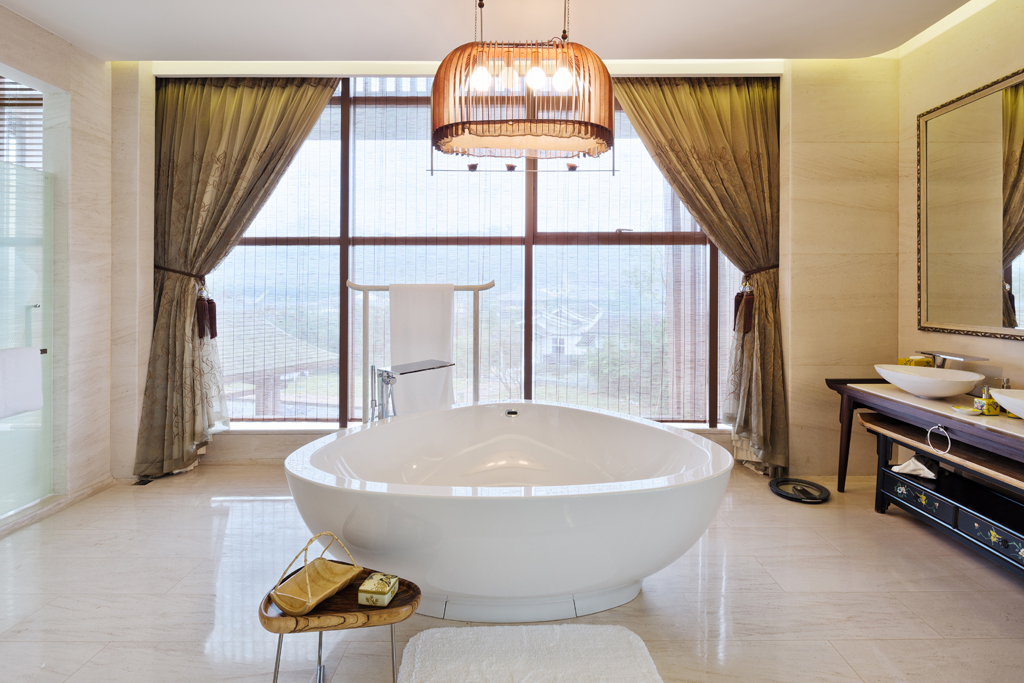 Koupelna s impozantním výhledem