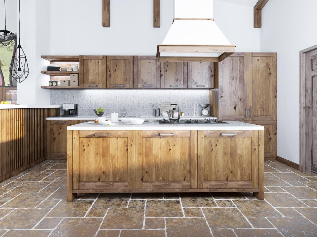 Rustikální kuchyň v industriálním stylu