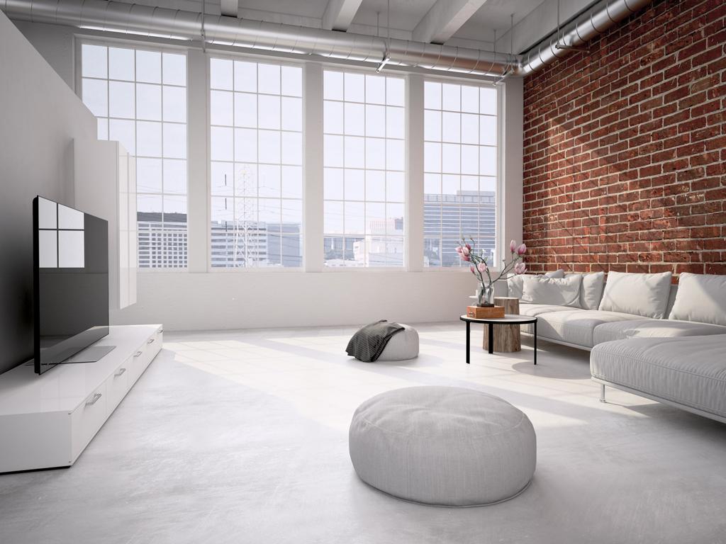 Elegantní industriální obývák