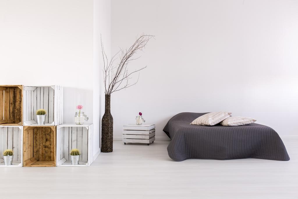 Elegantní severská ložnice