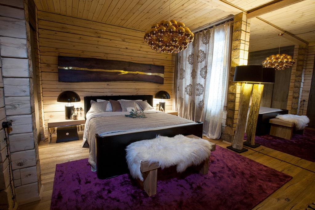 Ložnice na chatě