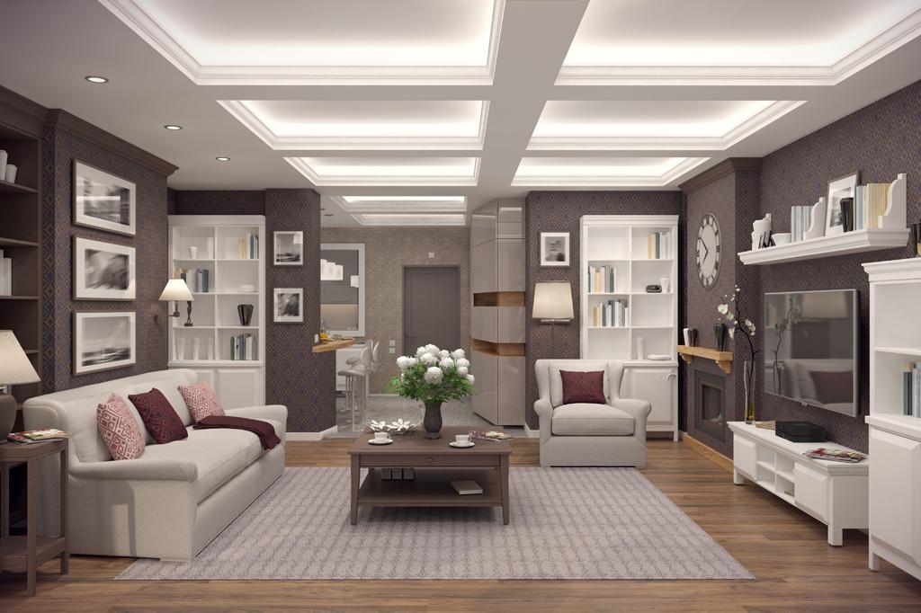 Klasický obývák v luxusním hávu