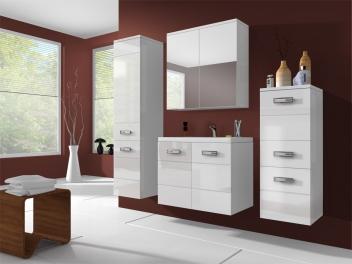 Koupelnový nábytek Demario – bílá / bílý lesk