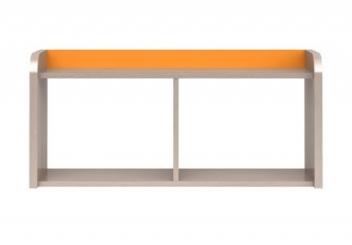 Závěsná police Orango 2 – dub světlý belluno / šedá