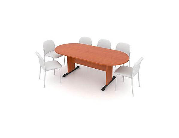 Jednací stůl – oválný 210 cm