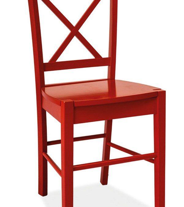 Smartshop Jídelní dřevěná židle CD-56, červená