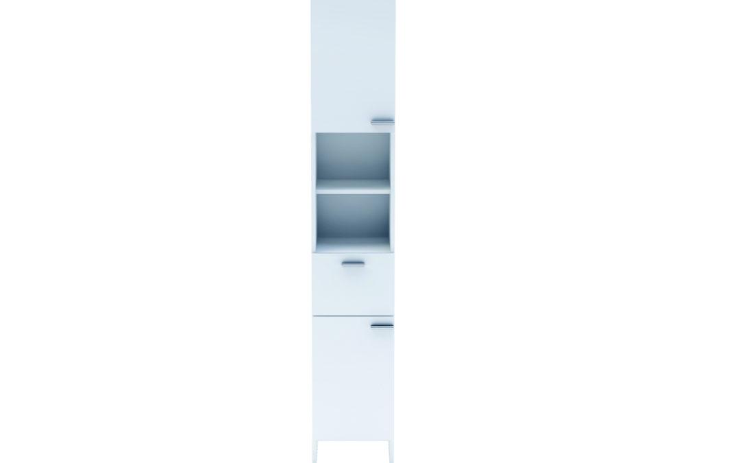 DEMEYERE KORALIE 2, skříňka 2D1S, bílá