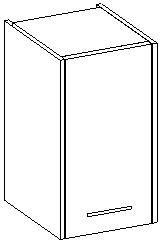 Extom NANCY, skříňka závěsná, bílá/bílý lesk