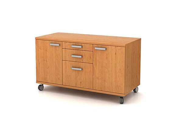 Box pojízdný – 2-dveřový, tužkovník, zásuvka, kartotéka