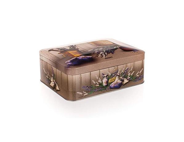 BANQUET Plechovka-box na čaj 200x155x80 mm LAVENDER