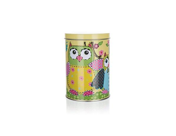 BANQUET Plechovka OWLS ROUND SMALL 7,5 x 11 cm