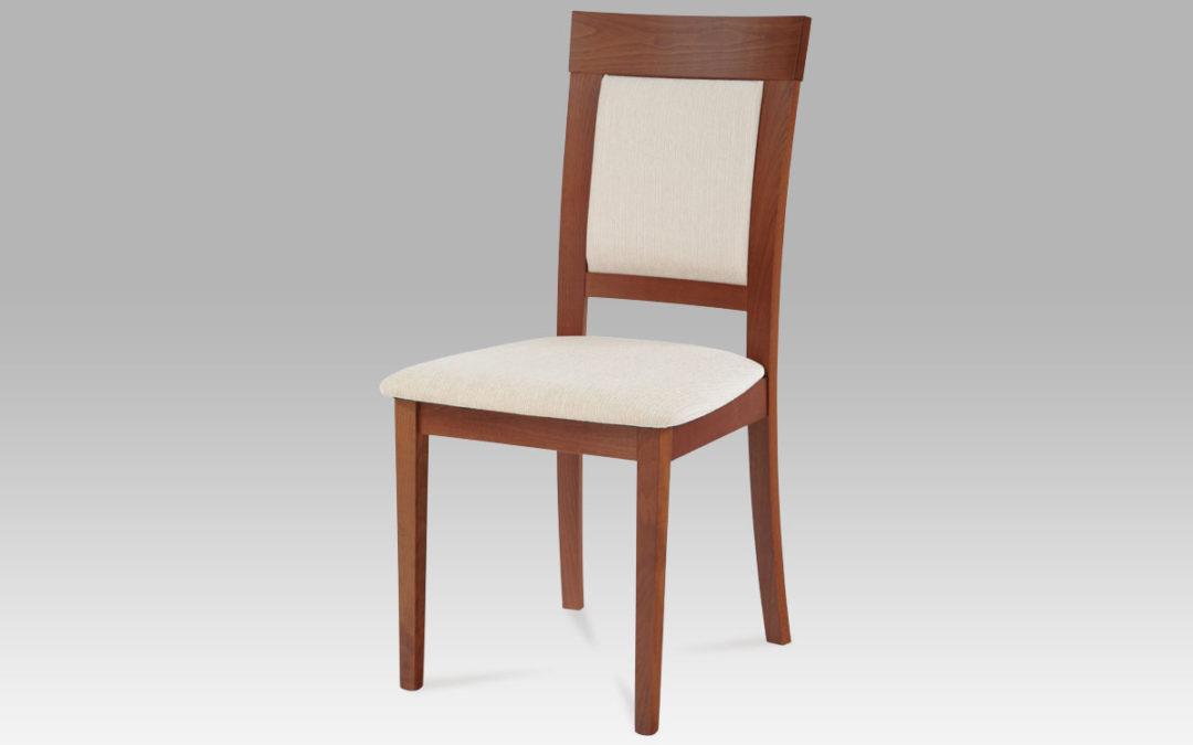 Autronic Jídelní židle BC-3960 TR3, třešeň/krémový p