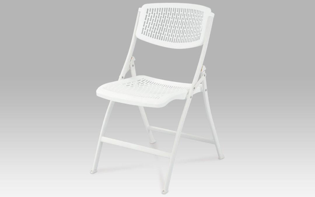 Autronic Sklápěcí židle, bílá, CT-721 WT