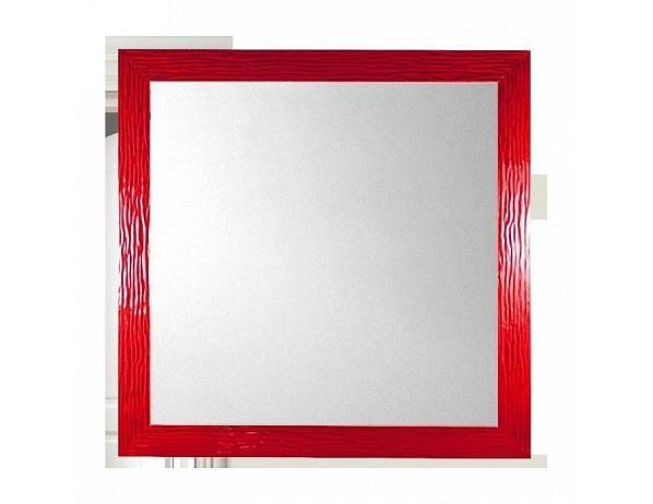 Designové zrcadlo Lowell MR11741 červené 80x80cm