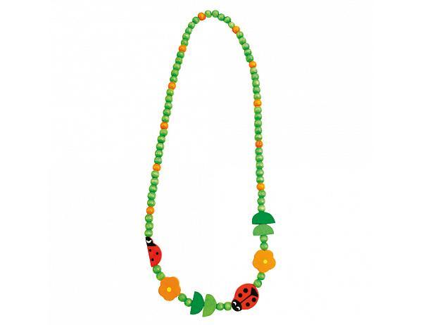 Dětský dřevěný náhrdelník, beruška