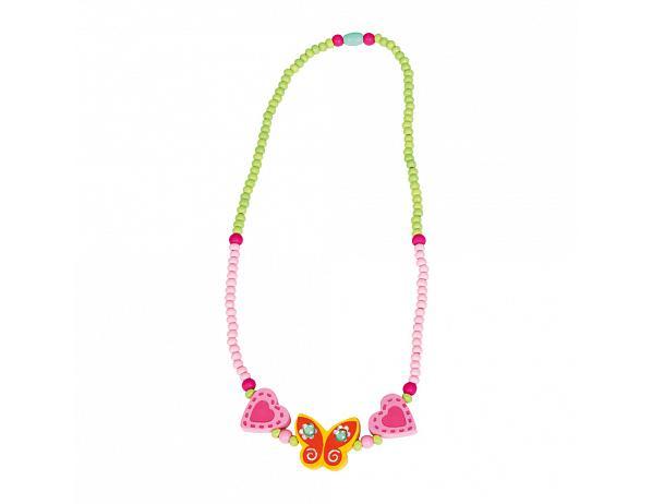 Dětský dřevěný náhrdelník, motýl