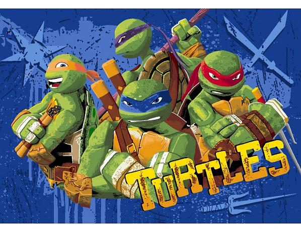 Dětský koberec Turtles Želvy Ninjas 03 Tough Turtles