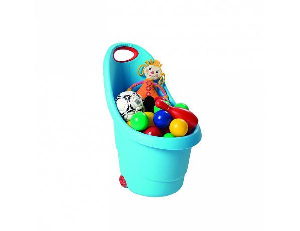 Dětský plastový vozíček Kiddies Go modrý