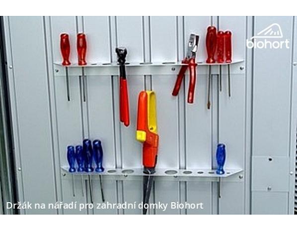 Držák nářadí na dveře pro domky Biohort