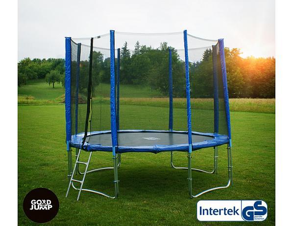 GoodJump 4UPVC trampolína 305 cm s ochrannou sítí + žebřík