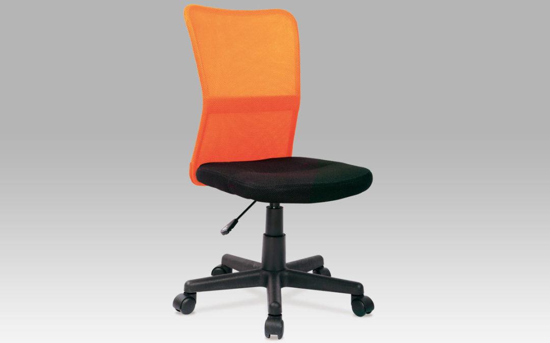 Autronic Dětská židle BORIS černá / oranžová
