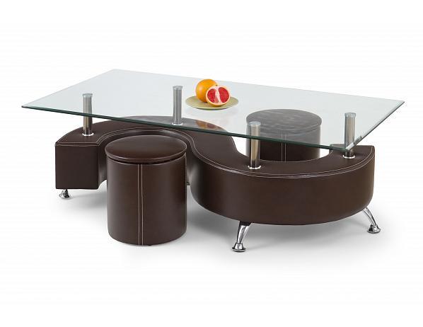 Konferenční stůl Nina 3 tmavě hnědý