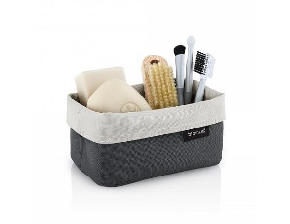 Košík na kosmetiku ARA 9x14cm šedý/pískový