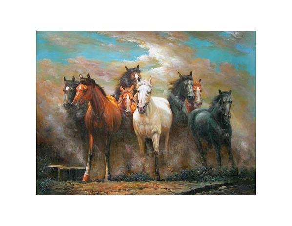 Obraz – Běžící koně