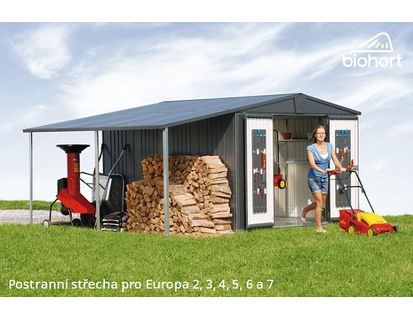 Postranní střecha pro domky Europa