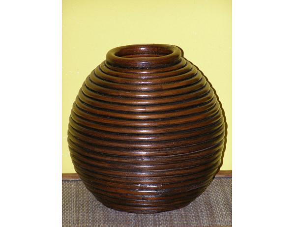 Ratanová váza V3-tmavá