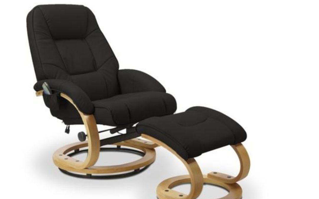 Halmar Relaxační křeslo MATADOR s podnožkou, černá