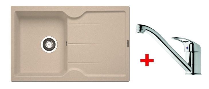 Pyramis SET dřez CARMINA 78×50 + páková baterie ACCEL-CHROM, barva: …